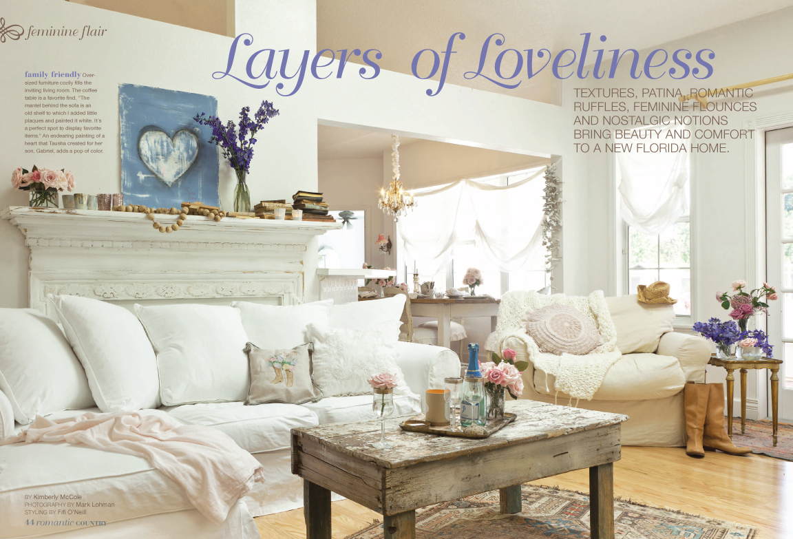 Romantic country magazine for Country home decor magazine